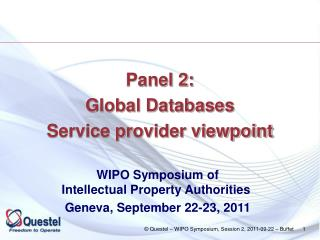 Panel 2: Global Databases Service provider viewpoint