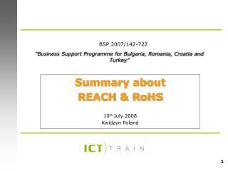 """ Business Support Programme for Bulgaria, Romania, Croatia and Turkey """