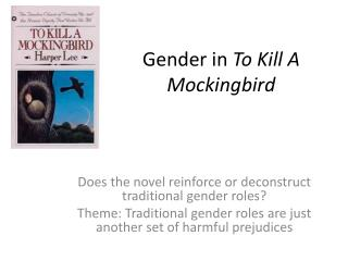 Gender in To Kill A Mockingbird