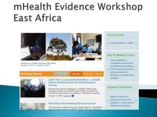 mHealth  Evidence Workshop East Africa