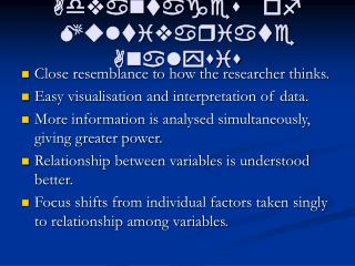 advantages of multivariate analysis