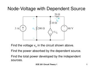 Node-Voltage with Dependent Source