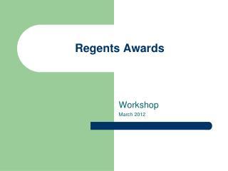 Regents Awards
