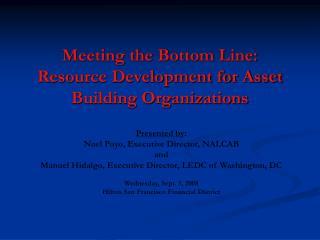 Meeting the Bottom Line: Resource Development for Asset Building Organizations