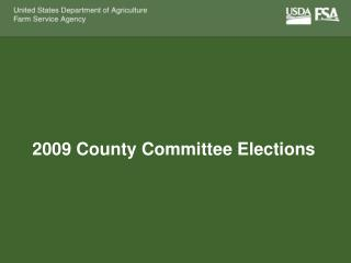 2009 County Committee Elections
