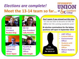 Elections are complete! Meet the 13-14 team so far…