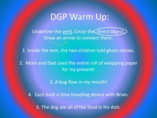 DGP Warm Up: