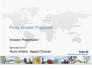 Proxy Access Proposals
