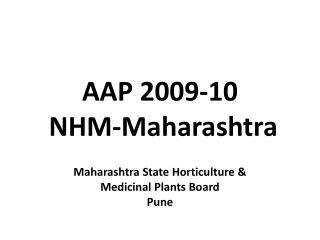 AAP 2009-10 NHM-Maharashtra