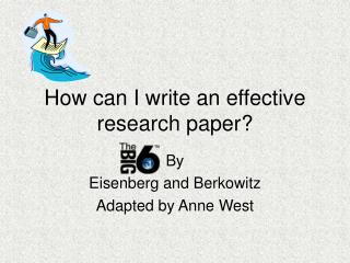 How can I write an effective research paper?