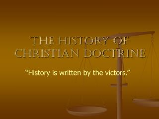 The History of Christian Doctrine