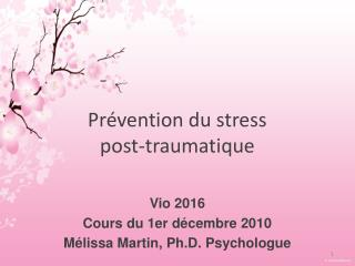 Prévention du stress post-traumatique