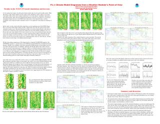 P1.1 Climate Model Diagnoses from a Weather Modeler's Point of View Hua-Lu Pan and Suranjana Saha Environmental Modeli
