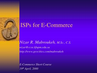 ISPs for E-Commerce