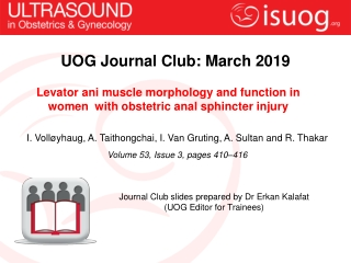 UOG Journal Club: March 201 9