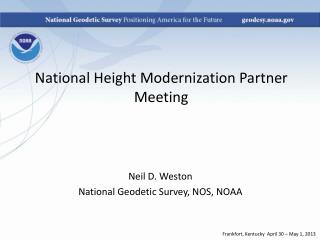 National Height Modernization Partner Meeting