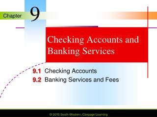 Checking Accounts and Banking Services