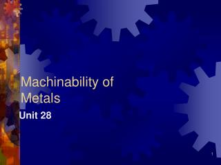 Machinability of Metals