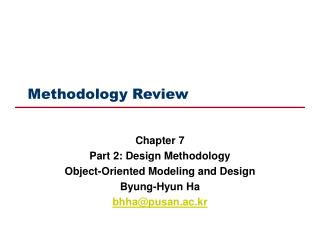 Methodology Review
