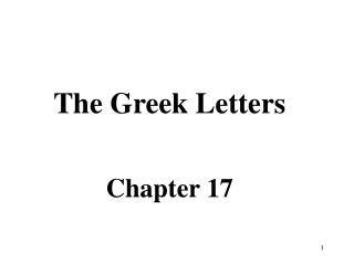 The Greek Letters Chapter 17
