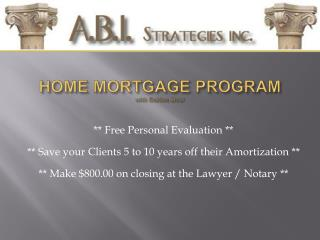 HOME MORTGAGE PROGRAM with Golden Moor