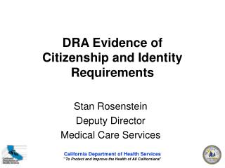DRA Evidence of Citizenship and Identity Requirements
