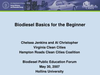 Biodiesel Basics for the Beginner