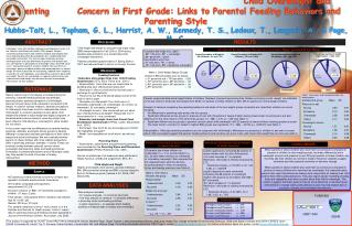 Child Overweight and Parenting  Concern in First Grade: Links to Parental Feeding Behaviors and Parenting Style Hubbs-Ta