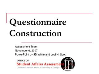 questionnaire construction