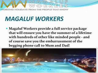 magaluf workers accommodation