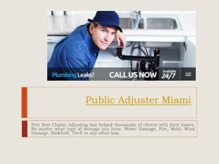 Public Adjuster Fort Lauderdale