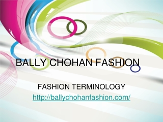 bally chohan fashion terminology