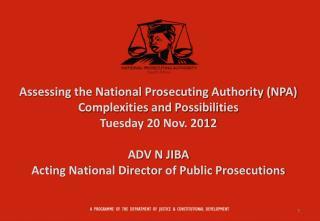 General Prosecution Performance