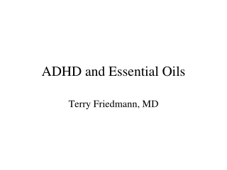 adhd and essential oils