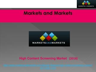 High Content Screening Market