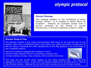 Olympic Rings & Flag