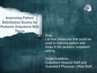 Improving Patient Wait Times