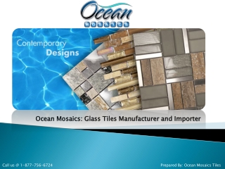 Ocean Mosaics Tiles: Glass Tiles Manufacturer and Importer