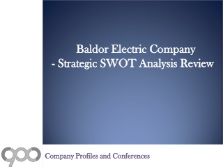 SWOT Analysis Review on Baldor Electric Company