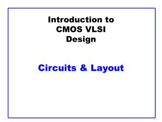 introduction to cmos vlsi design