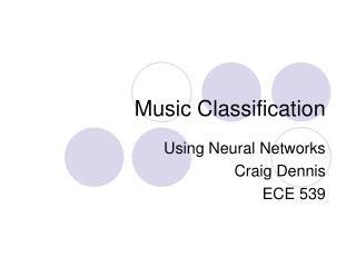 Music Classification