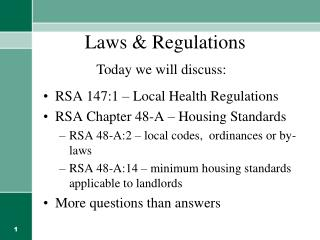 Laws & Regulations