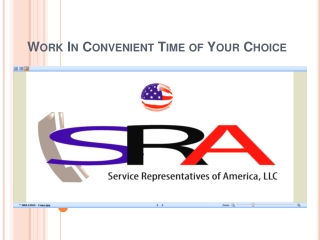 Work In Convenient Time of Your Choice