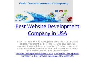 Best Website Development Company in USA