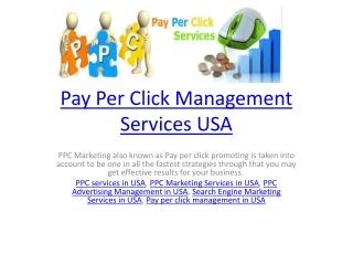 Pay Per Click Management Services USA