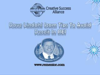 Dave Lindahl Scam Tips To Avoid Deceit In REI
