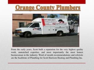 Plumbers In Orange County