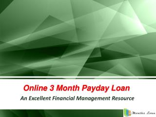 Online Payday Loan - An Excellent Financial Management Resou