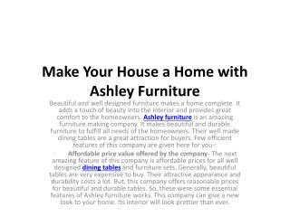 Make Your House a Home with Ashley Furniture