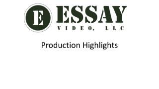 Essay Video Highlights March 2014